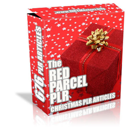 Product picture Red Parcel PLR - 676 PLR Articles - Christmas - FULL PLR